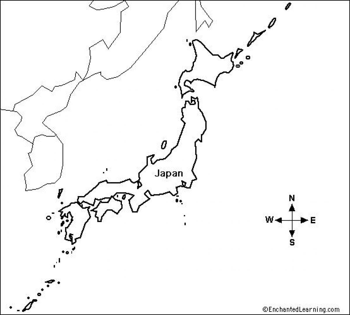 blank map of japan pdf