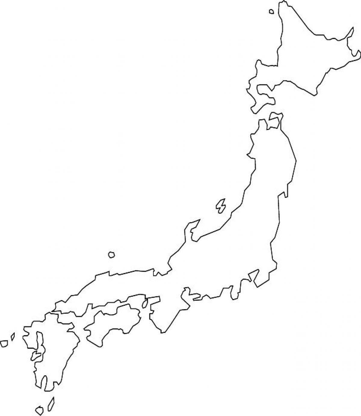 Japan map blank - Map of japan blank (Eastern Asia - Asia)