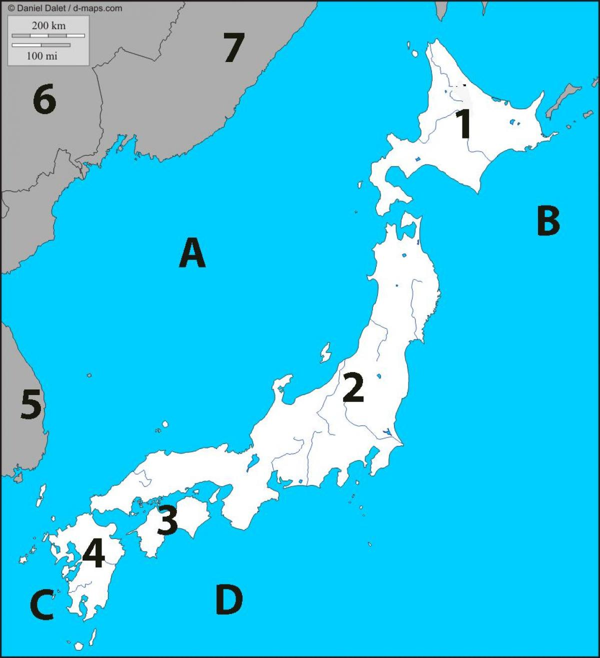 Japan Map Quiz Map Of Japan Quiz Eastern Asia Asia