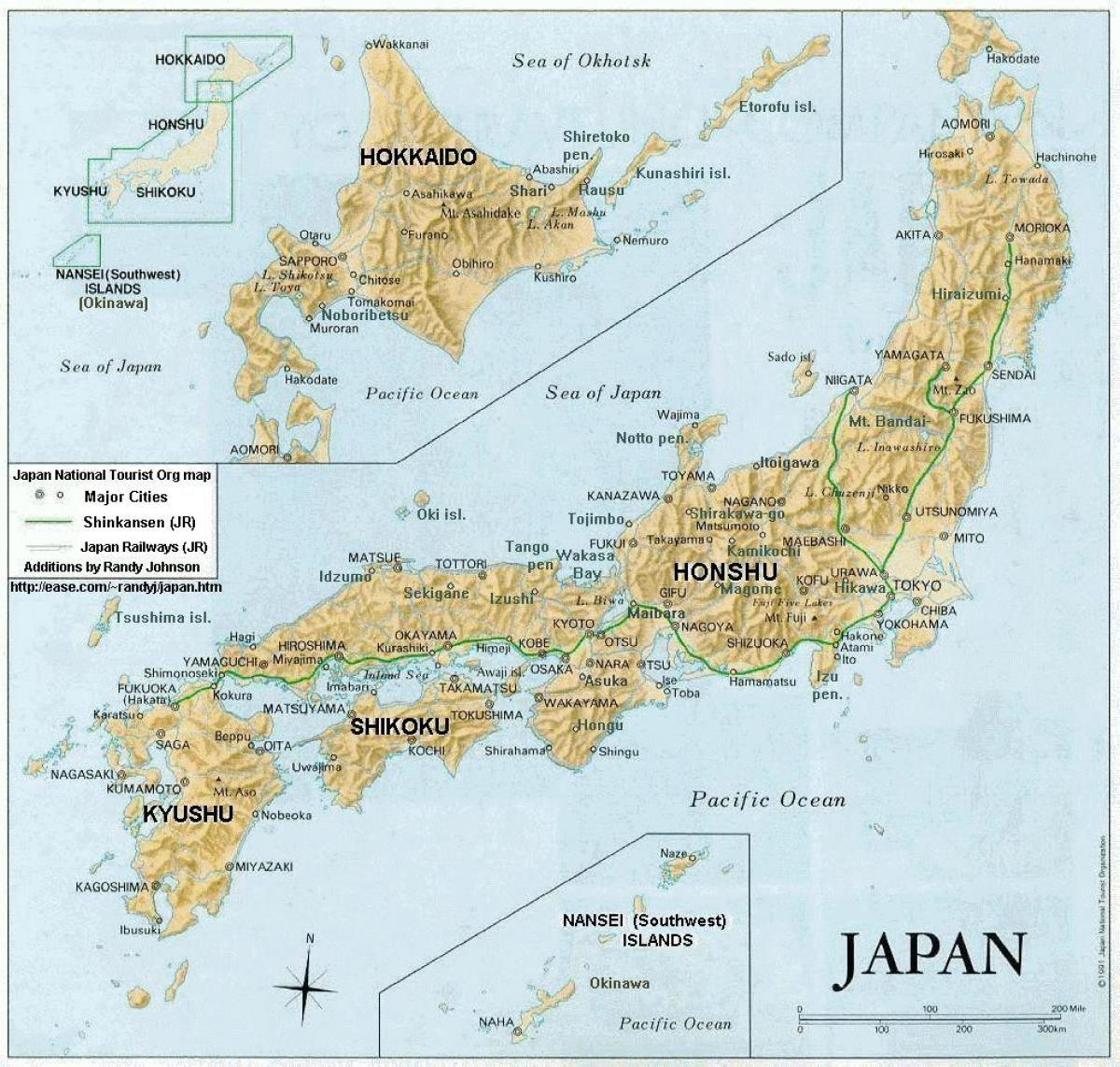 Map of japan islands and cities - Japan map with cities and islands ...