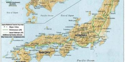Map of japan cities - Cities of japan map (Eastern Asia - Asia)