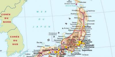 Japan map of cities